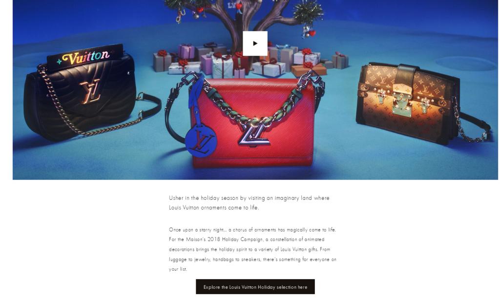 Weihnachtsmarketing von Louis Vuitton